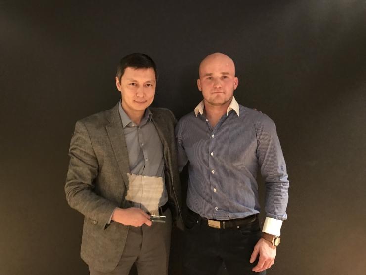 Hendrik Themas, Mirkko Moisar ja Astrid Johanna Grents said Kevin Renno Võitlusspordi Akadeemia tunnustuse