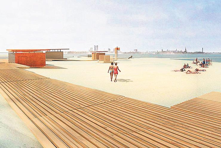 Pirita rand saab promenaadi ja teisaldatava kontserdipaiga