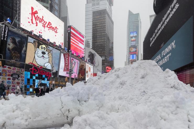 Lumetorm võib tuua New Yorki kuni 45 cm lund