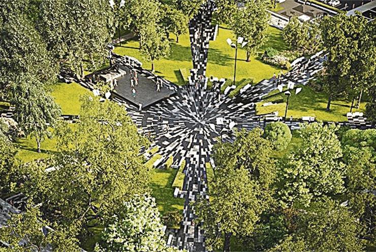 Uuenenud Tammsaare park saab moodsa leedvalgustuse