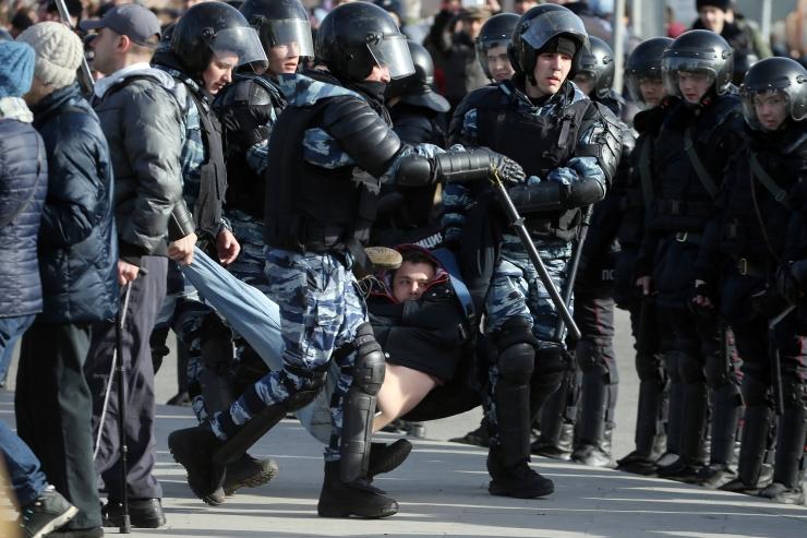 Moskva kesklinnas tugevdati meeleavalduse kartuses turvameetmeid