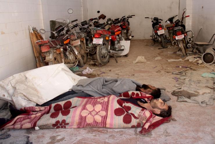 Süüria arvatava keemiarünnaku ohvrite arv on tõusnud 86-ni