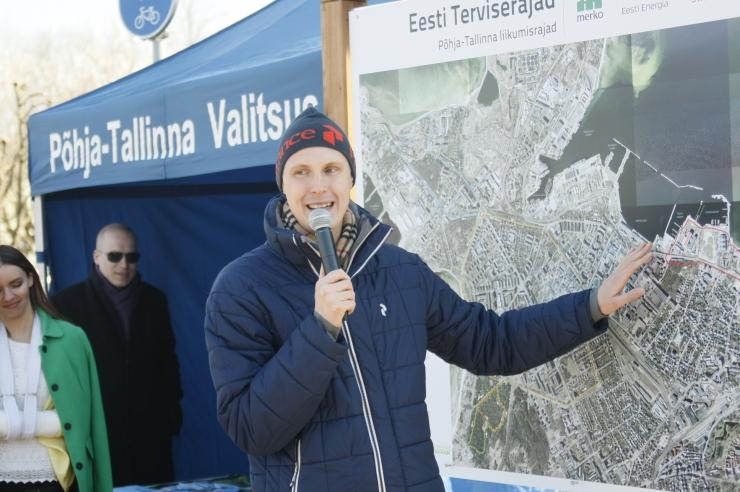 FOTOD! Põhja-Tallinnas avati esimesed asumisisesed liikumisrajad