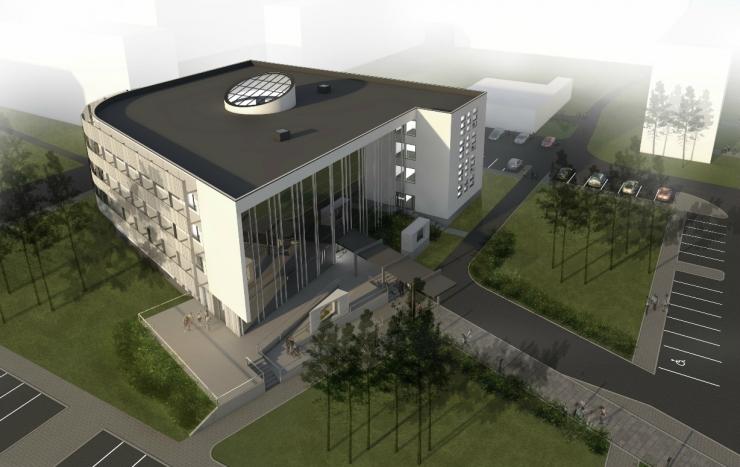Sarikapeol tähistatakse Mustamäe tervisekeskuse lõpliku kõrguse saavutamist