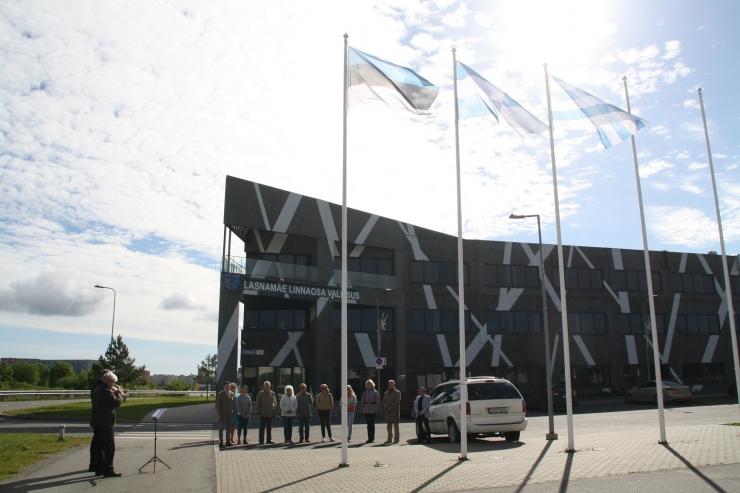 Lasnamäel tähistati Eesti lipu päeva