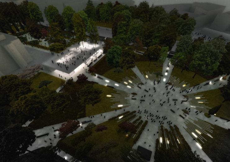 Tammsaare pargi uuendamine on alanud