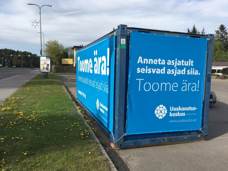 Uuskasutuskeskuse kampaaniaga koguti 227 tonni esemeid