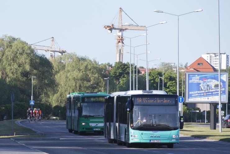 Tallinn suunab kuue liini bussid trammitee ehituse tõttu ümbersõidule