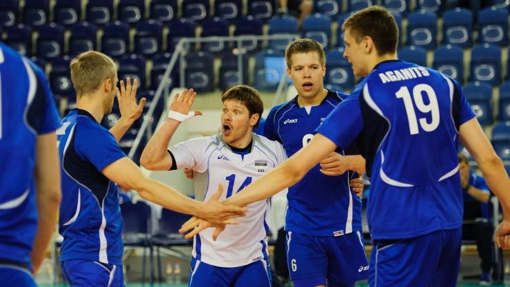Eesti võrkpallikoondis võitis MM-i lisavalikturniiril Slovakkia