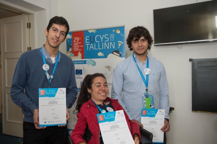 FOTOD! Euroopa noorte teadlaste konkursil pälvis Tallinna eripreemia Portugali noorte uurimistöö
