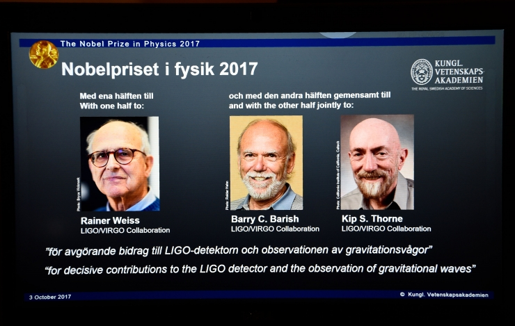 Nobeli füüsikapreemia pälvisid kolm gravitatsioonilainete uurijat