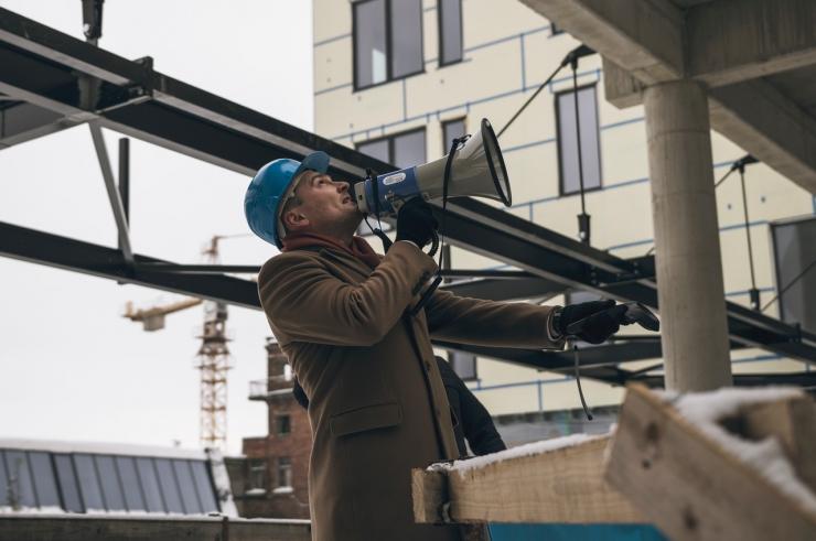 VIDEO JA FOTOD! Eesti suurima büroomaja uus torn sai täiskõrguse