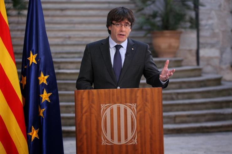Junqueras: Puigdemont on jätkuvalt Kataloonia president