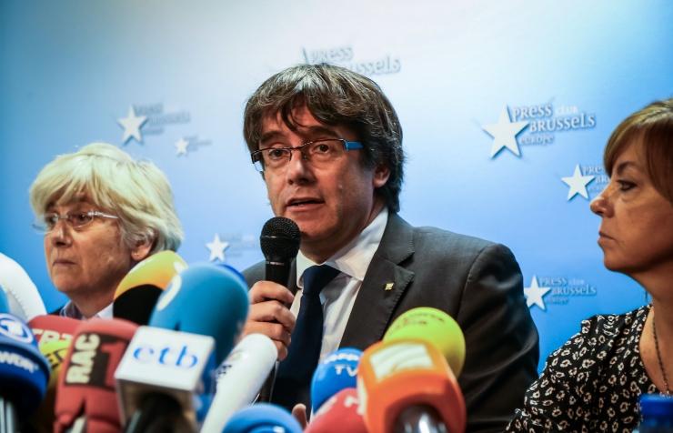 Puigdemont, neli eksministrit andsid end Belgia politseile üles