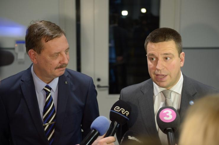 FOTOD JA VIDEO! Keskerakond kinnitas uuteks abilinnapeakandidaatideks Riisalu, Mölderi, Belobrovtsevi ja Novikovi