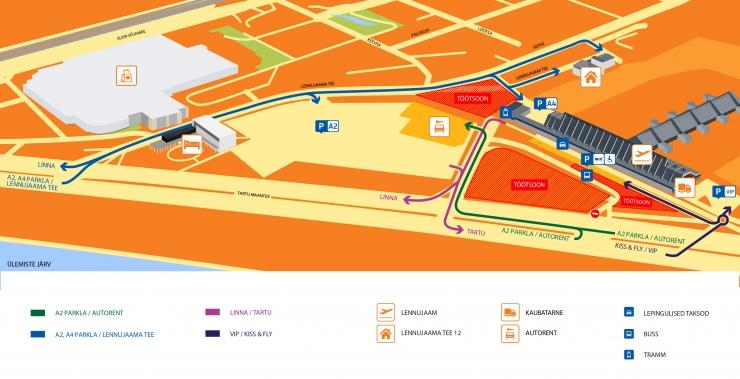 Tallinna Lennujaam sulgeb tänasest terminaliesise parkla ehitustöödeks