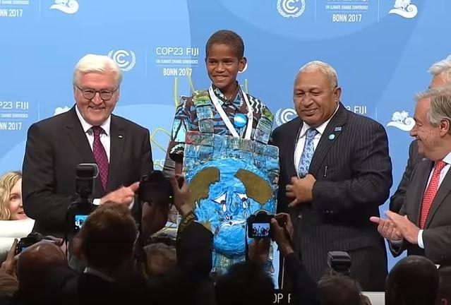 VIDEO! Fidži poiss kliimakõnelustel: minu kodu ja kool on hävinud, külast sai viljatu tühermaa