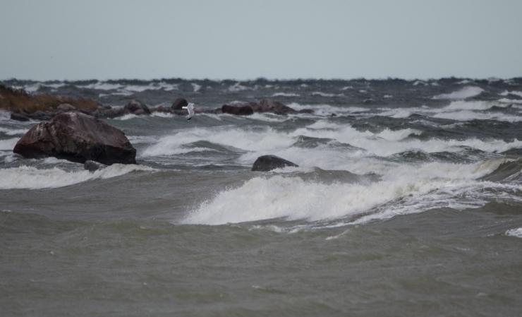 Tugev tuul toob Läänemerele kuni kolmemeetrised lained