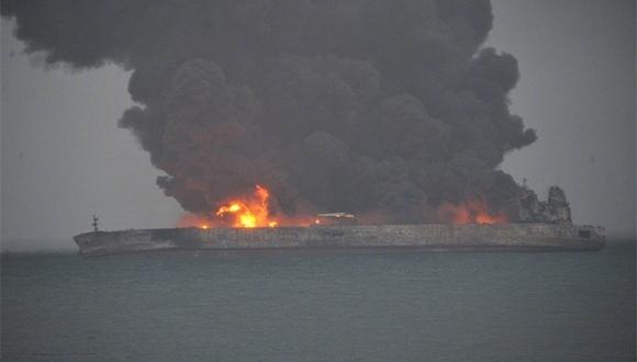 Hiina lähistel süttis tanker, 32 inimest on kadunud