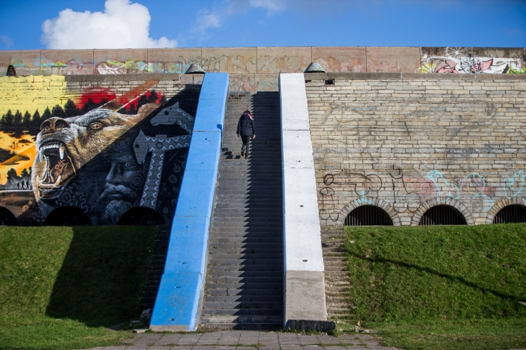Linnahall peab grafitist ja taimestikust puhtaks saama 1. maiks