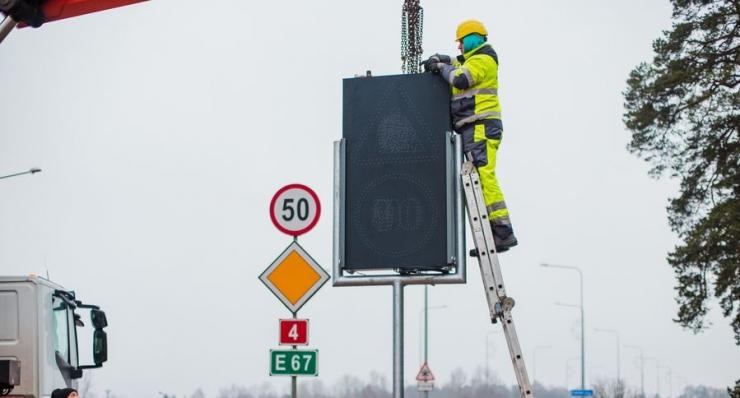 Muutuva teabega elektrooniliste liiklusmärkide testimine oli edukas