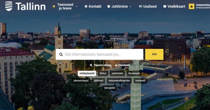 Tule tutvu Tallinna uue kodulehe kujundusega