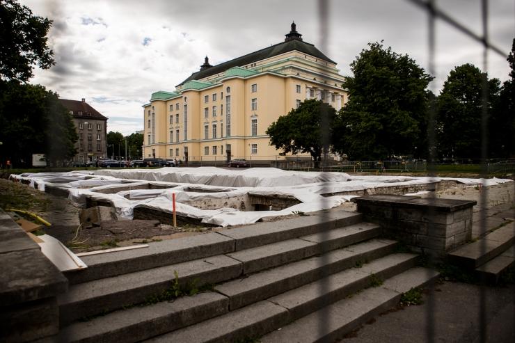 Tammsaare parki turuhoone varemeile kavandatakse paviljoni