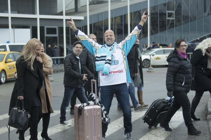 FOTOD: Soome hokifännid ja -mängijad vallutasid Tallinna