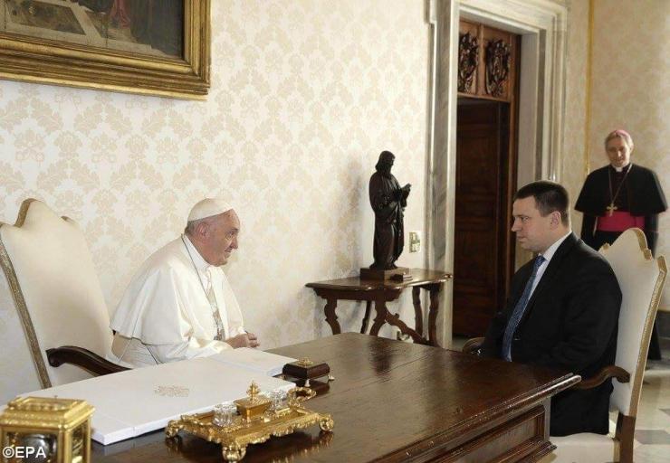 Ratas ja paavst arutasid konfliktides kannatavate inimeste abistamist