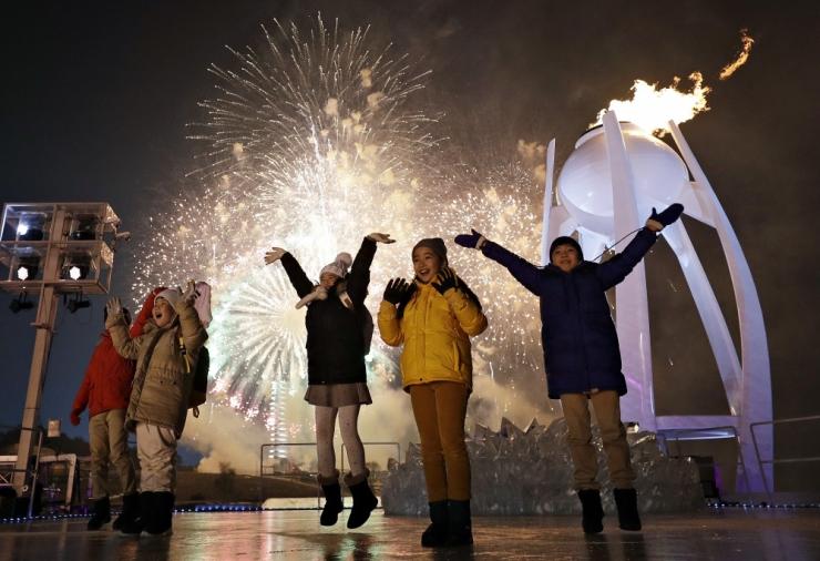 Lõuna-Korea president kuulutas Pyeongchangi taliolümpiamängud avatuks