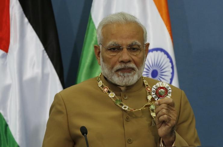 Modi külastas esimese India peaministrina okupeeritud Läänekallast