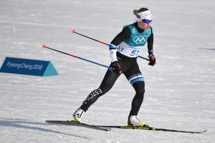 Naiste 10 km vabatehnikasõidu olümpiakuld Norrasse, Mannima sai 50. koha