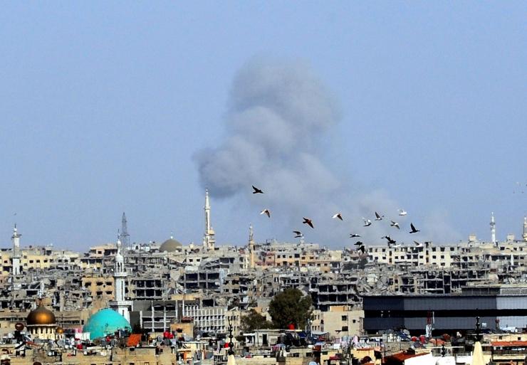 Vaatluskeskus: Süüria režiimiväed tungivad Ida-Ghoutas edasi