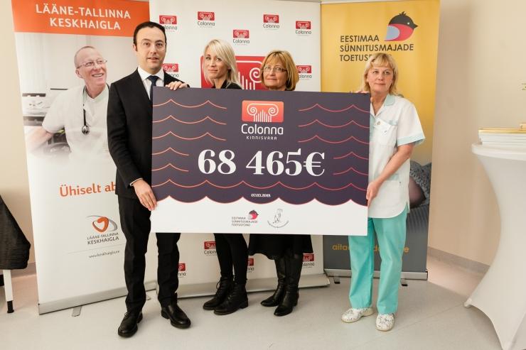FOTOD! Pelgulinna Sünnitusmaja sai kätte ligi 70 000-eurose rekordannetuse