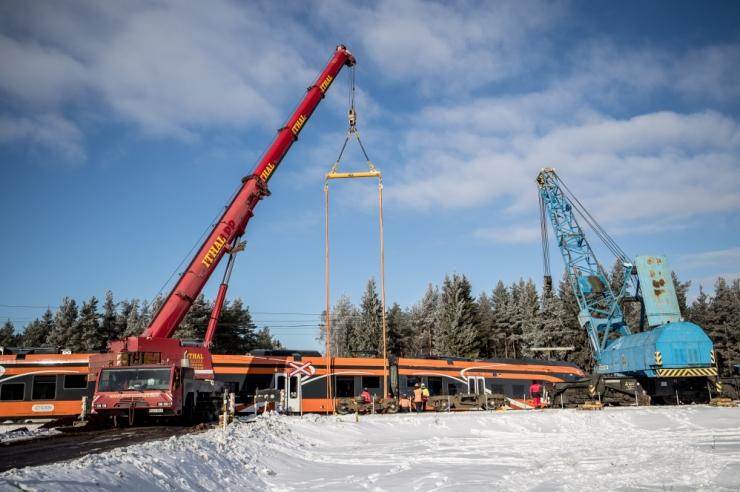 Kulnas õnnetusse sattunud Elroni rong jõuab ekspertiisi lähinädalatel