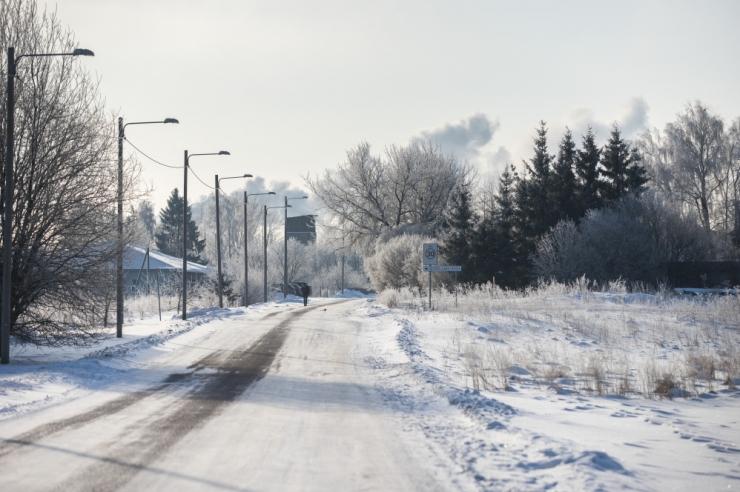 Õhutemperatuuride langemise tõttu muutuvad sõidu- ja kõnniteed libedaks