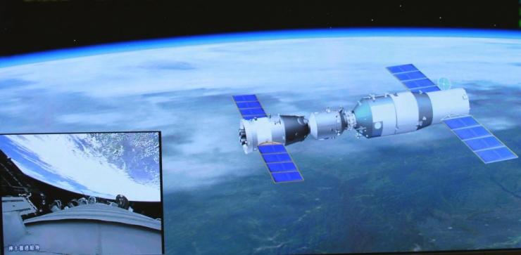 Hiina kosmoselabor lagunes Maa atmosfääri sisenedes