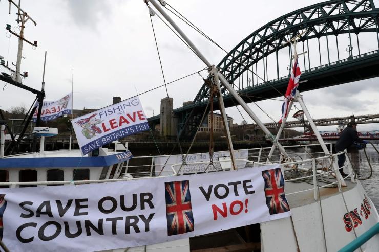 FOTOD! Briti kalurid korraldasid üleriigilise Brexiti-protesti