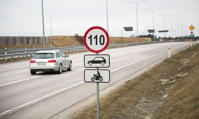 Tänavu saab kiirusega 110 km/h sõita kokku 135 kilomeetril
