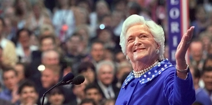 Suri USA endine esileedi Barbara Bush