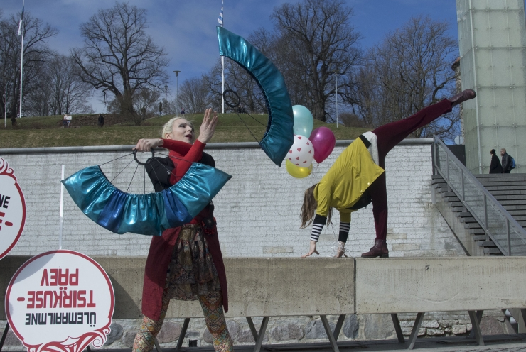 FOTOD! Vabaduse väljakul tähistati tsirkusepäeva