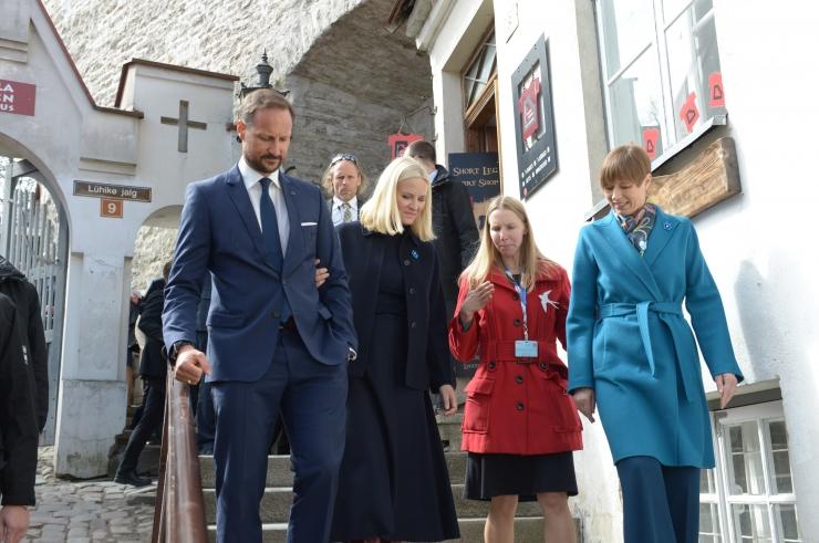 FOTOD JA VIDEO! Norra kroonprints ja -printsess tutvusid Tallinnaga