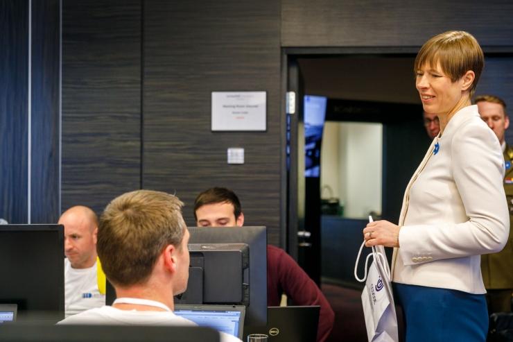 President Kaljulaid: poliitikud peaksid Locked Shields'i pakutavaid võimalusi ära kasutama