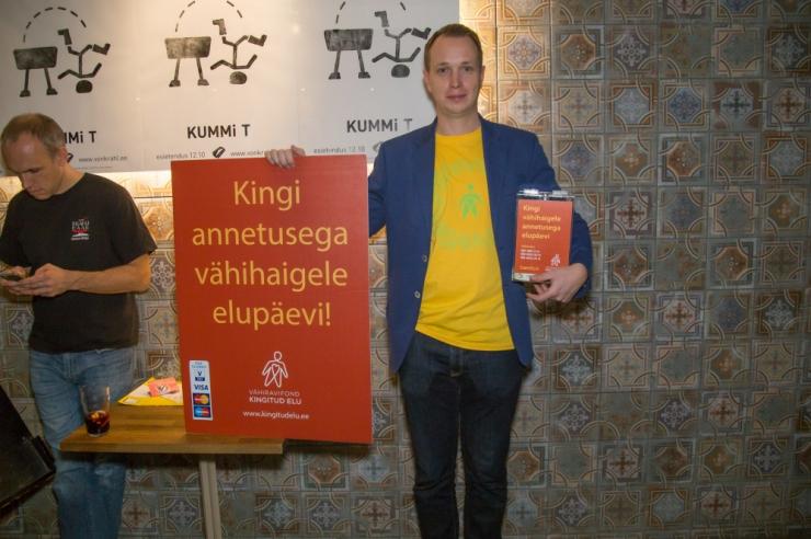 Estonia teatri publik panustas vähihaigete toetuseks 3000 eurot