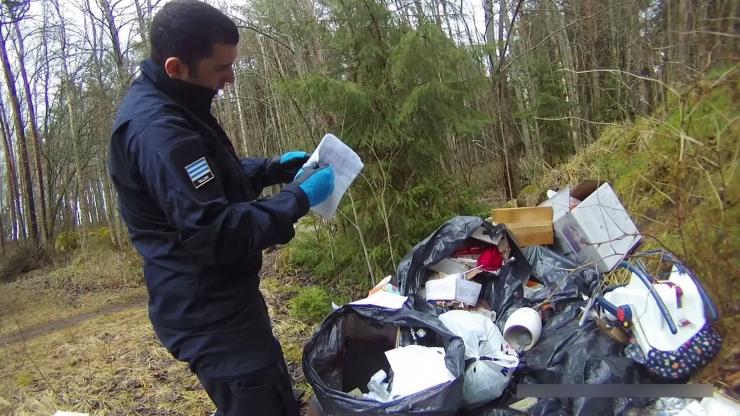 Kakumäe mees viis prügi värskelt koristatud metsa alla