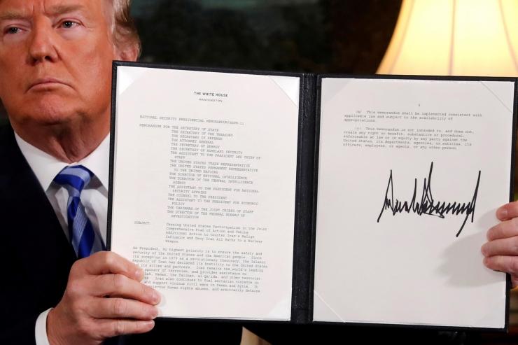 Saksa tööstusliit taunib Trumpi otsust Iraani tuumaleppest lahkuda