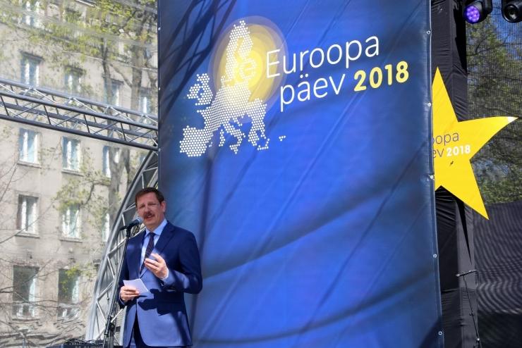 FOTOD JA VIDEO! Taavi Aas Euroopa päeva avades: veidi aega tagasi oli välismaal õppimine sama tõenäoline kui lotoga võita