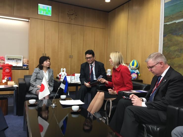 Jaapani valitsus plaanib tihendada majandussidemeid Eestiga