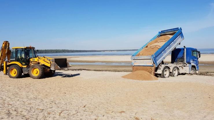 Kakumäe randa tuuakse juurde 300 tonni liiva