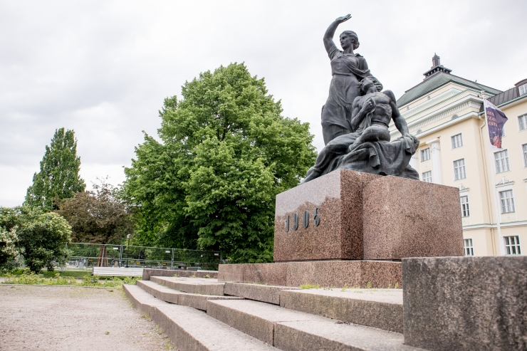 Tammsaare parki turuhoone varemeile kerkib paviljonkohvik